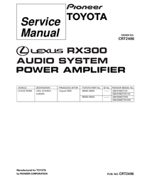 Service Manual Pioneer GM-8306ZT/EW