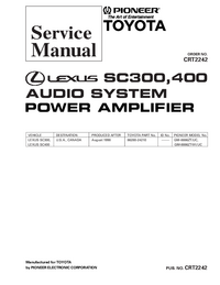 Manual de servicio Pioneer GM-8886ZT/UC,