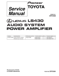 Service Manual Pioneer GM-9006ZT-91/E