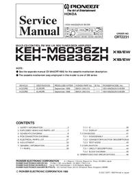 Manual de serviço Pioneer KEH-M6036ZH/X1B/EW