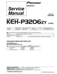 Serviceanleitung Pioneer KEH-P3206ZY
