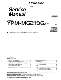 Service Manual Pioneer YPM-MG2196ZF
