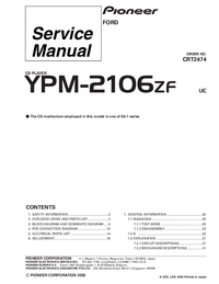 Service Manual Pioneer YPM-2106ZF