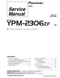 Serviceanleitung Pioneer YPM-2306ZF