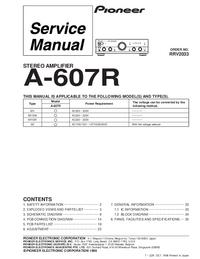 Manual de serviço Pioneer A-607R