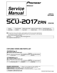 Service Manual Pioneer SCU-2017ZRN