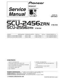 Servicehandboek Pioneer SCU-2556ZRN