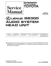 Service Manual Pioneer KEX-M8076ZT-92/ES