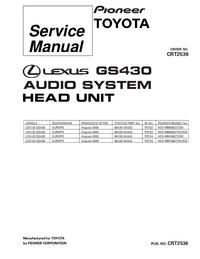 Servicehandboek Pioneer KEX-M9106ZT-91/EW