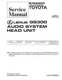 Manual de servicio Pioneer KEX-M8176ZT-92/AU