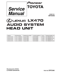 Manuale di servizio Pioneer KEX-M8206ZT/UC