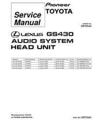 Serviceanleitung Pioneer KEX-M8706ZT-91/EW