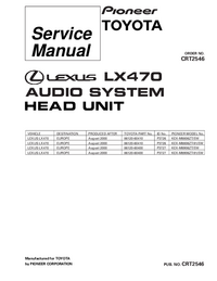 Service Manual Pioneer KEX-M8806ZT-91/EW