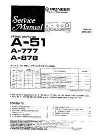 Manuale di servizio Pioneer A-878