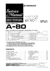 Manual de servicio Pioneer A-80