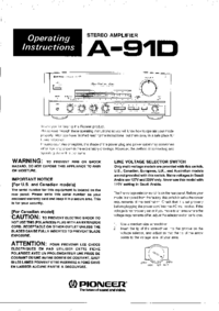 Manuale d'uso Pioneer A-91D