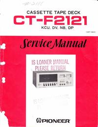 Servicehandboek Pioneer CT-F2121
