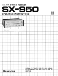Manuale d'uso Pioneer SX-950