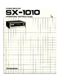 User Manual Pioneer SX-1010