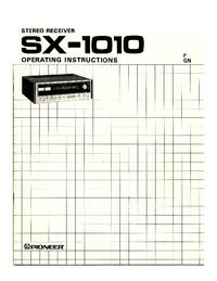 Manual do Usuário Pioneer SX-1010
