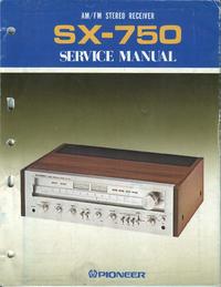 Руководство по техническому обслуживанию Pioneer SX-750