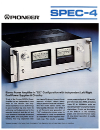 Datenblatt Pioneer SPEC-4