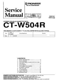 Руководство по техническому обслуживанию Pioneer CT-W504R