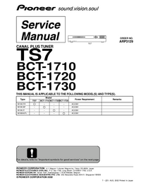 Service Manual Pioneer BCT-1710