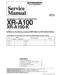 Manual de servicio Pioneer XR-A100