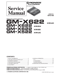 Manual de servicio Pioneer GM-X522 X1R/UC