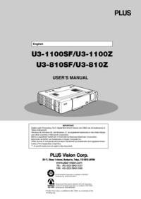User Manual PlusVision U3-810SF