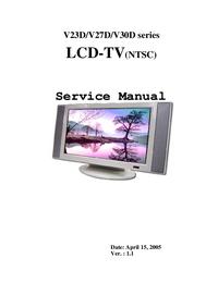 Руководство по техническому обслуживанию Polaroid V23D Series