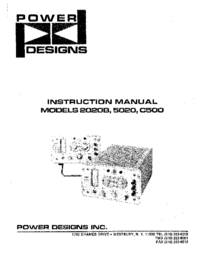 Service and User Manual Power_Designs C500