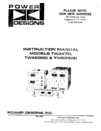 Service and User Manual Power_Designs TW5005D