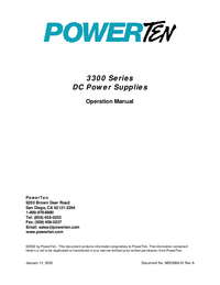 Manuel de l'utilisateur Powerten 3300 Series