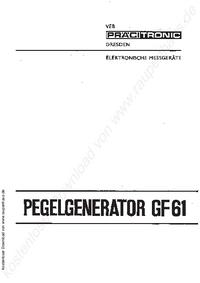 Manual do Usuário Pracitronic GF 61