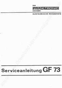 manuel de réparation Pracitronic GF 73