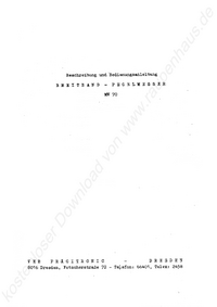 Service- und Bedienungsanleitung Pracitronic MV 70