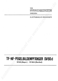 Service and User Manual Pracitronic SV 60