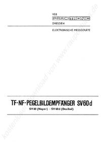 Servicio y Manual del usuario Pracitronic SV 60 d