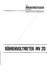 Service-en gebruikershandleiding Pracitronic MV 20