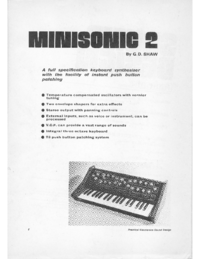 Service and User Manual Practicalelectronics Minisonic 2