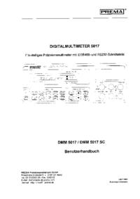 Bedienungsanleitung Prema DMM 5017