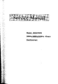 Руководство по техническому обслуживанию Protek 6506