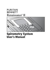 User Manual PuritanBennett Renaissance II