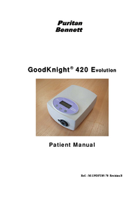 Manuale d'uso PuritanBennett GoodKnight® 420 Evolution