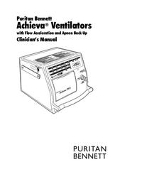 User Manual PuritanBennett Achieva PSO2