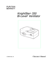 User Manual PuritanBennett KnightStar ® 330