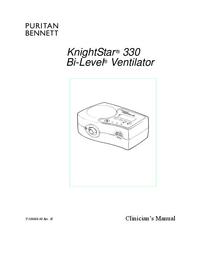 Manual do Usuário PuritanBennett KnightStar ® 330