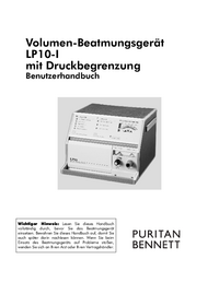 User Manual PuritanBennett LP10-I